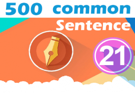 (21) 500 Most Common Chinese Sentence