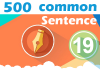 (19) 500 Most Common Chinese Sentence