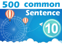 (10) 500 Most Common Chinese Sentence